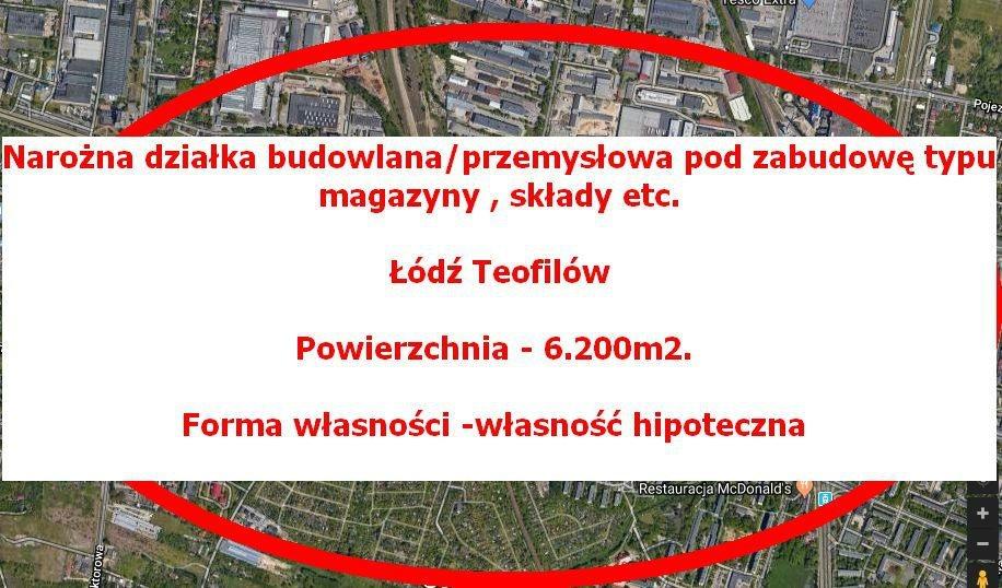 budowlana/przemysłowa-6.200m2 Teofilów