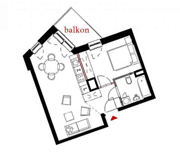 2 pokoje w stanie deweloperskim, metro