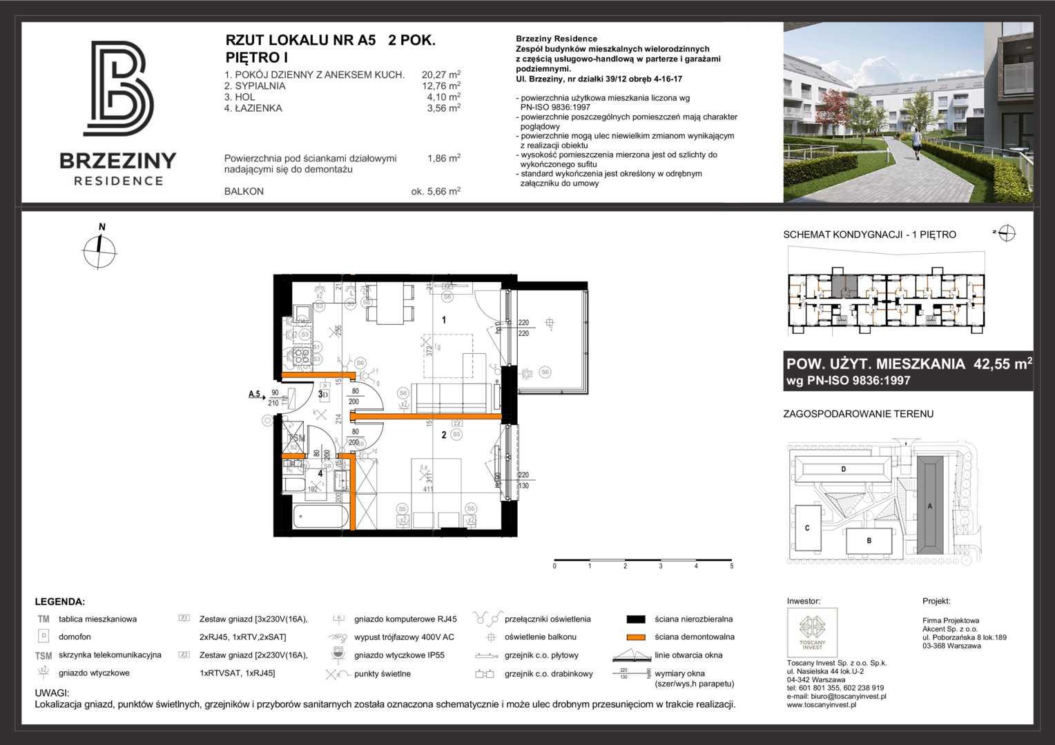 Mieszkanie w inwestycji: Brzeziny Residence