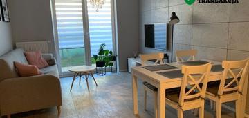 Umeblowane mieszkanie 2 pokojowe z ogórdkiem
