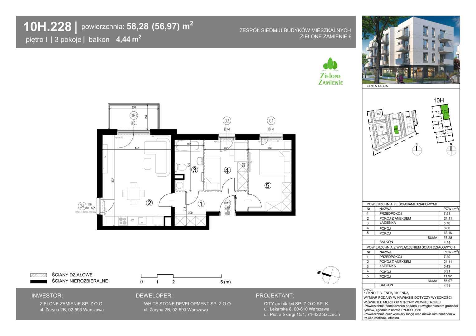 Mieszkanie w inwestycji: Zielone Zamienie VI