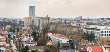 11 piętro / widok na panoramę krakowa