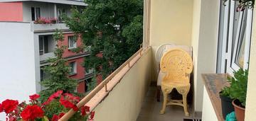 2 pokoje w bloku z cegły z dużym balkonem !