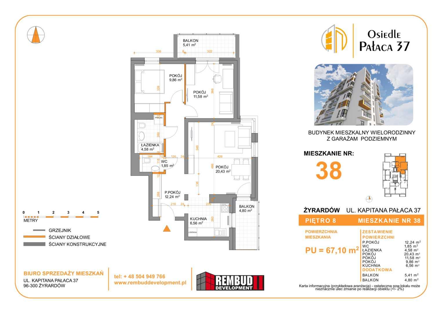 Mieszkanie w inwestycji: Osiedla Pałaca 37