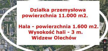 przemysłowa 1.1 ha z halą 1.600m2  Widzew Olechów