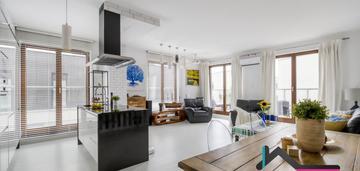 2 balkony, klimatyzacja, mieszkanie glamour