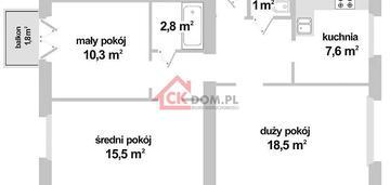 Mieszkanie 3pokojowe 65,20 m² centrum ul. chęcińska