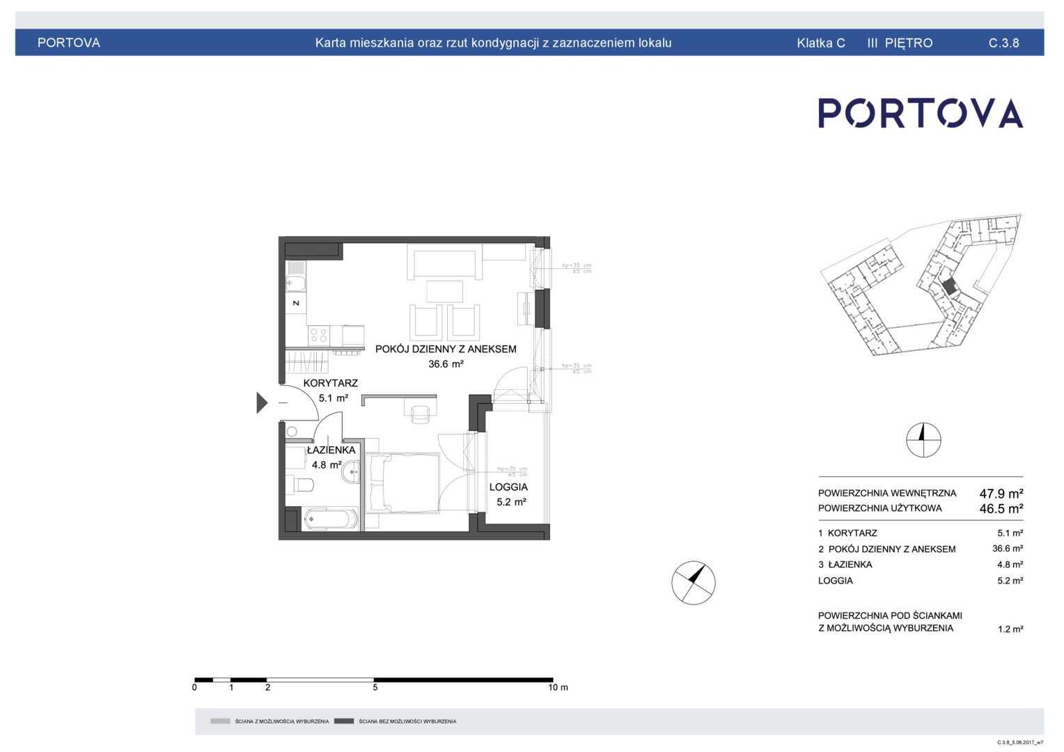 Mieszkanie w inwestycji: Portova