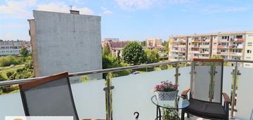 2-pokojowe mieszkanie z dużym balkonem od zachodu