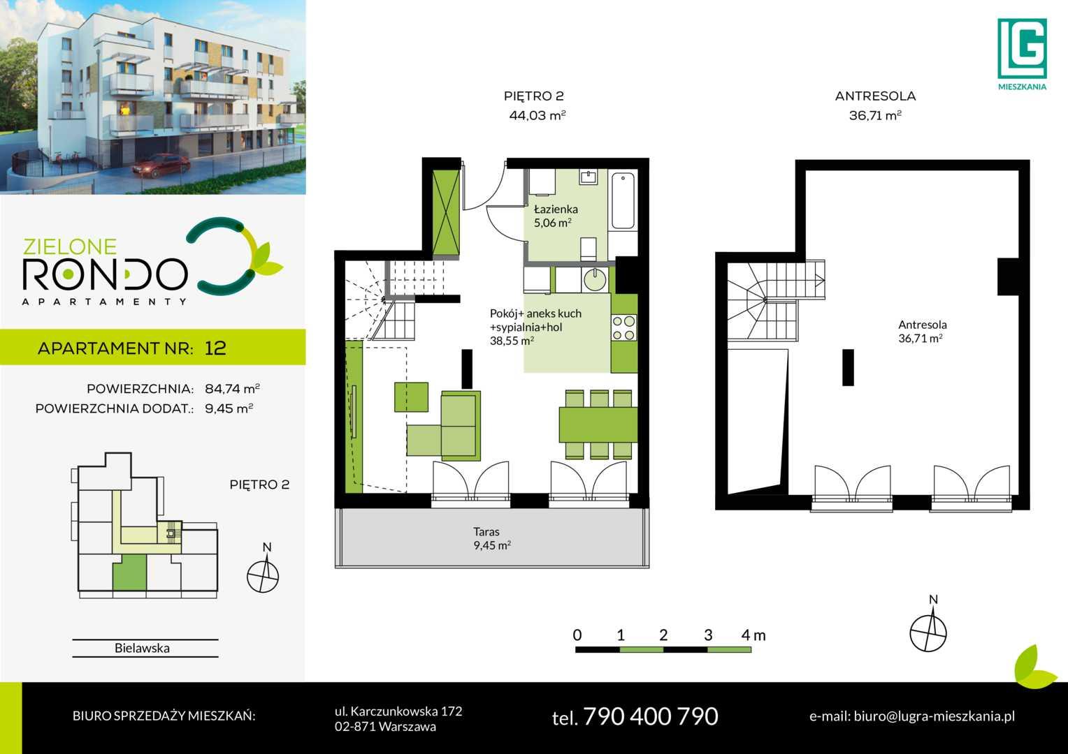 Mieszkanie w inwestycji: Zielone Rondo