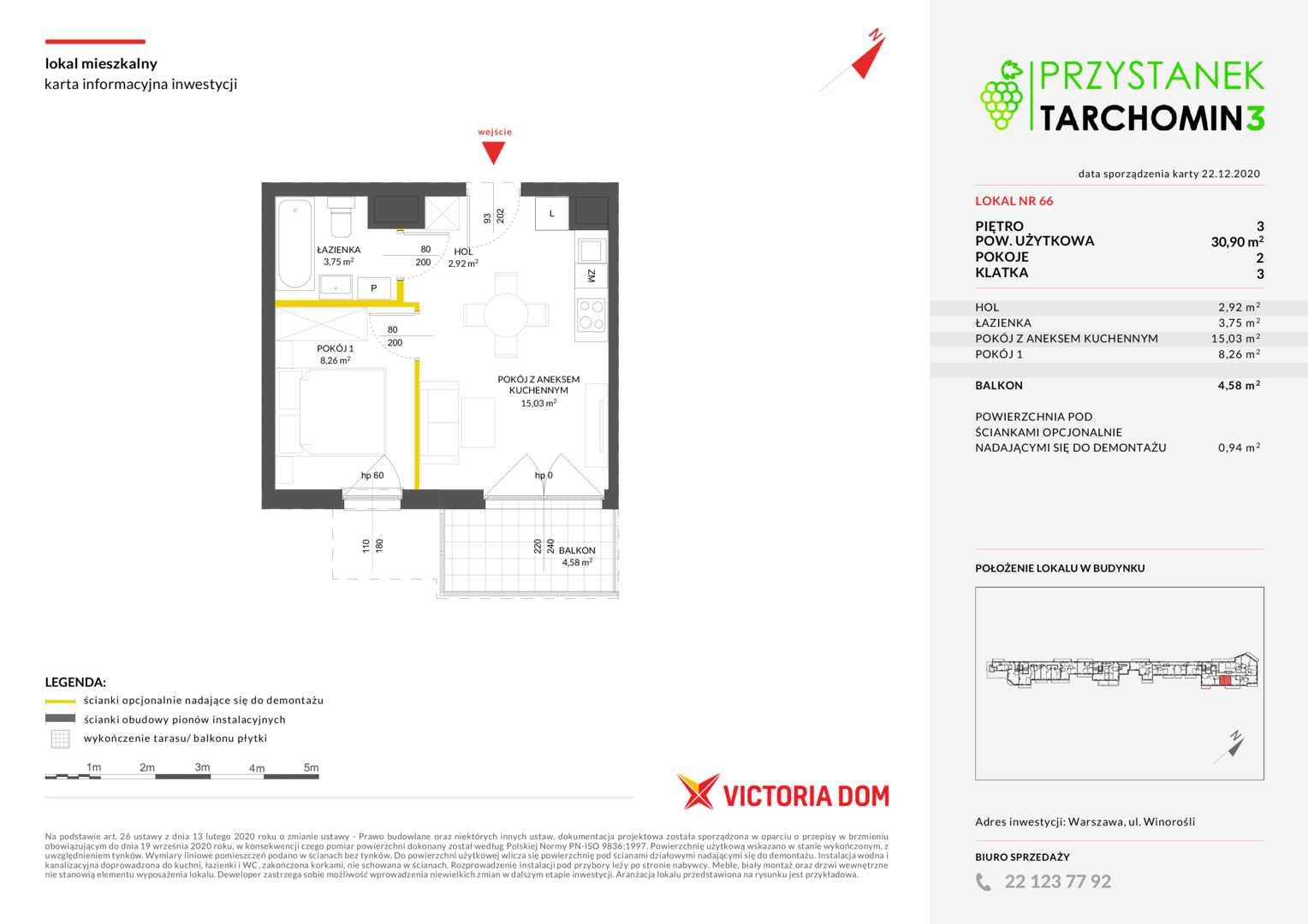 Mieszkanie w inwestycji: Przystanek Tarchomin etap 3