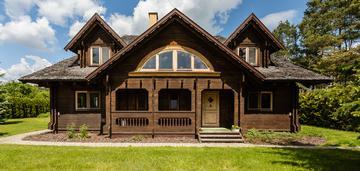 Dom z drewna świerkowego w pradolinie wisły