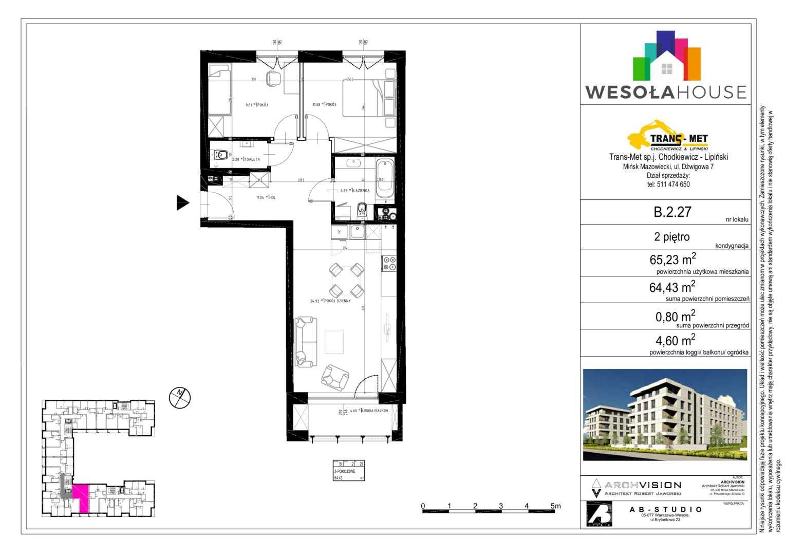 Mieszkanie w inwestycji: Wesoła House