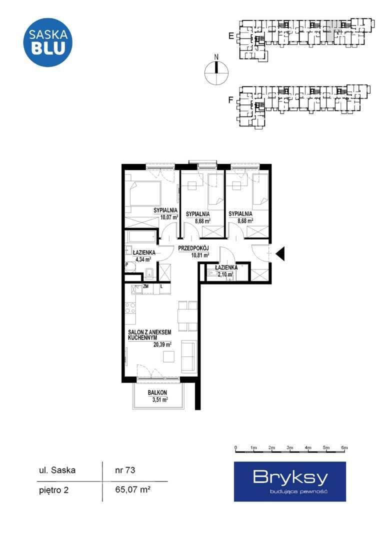 Mieszkanie w inwestycji: SASKA BLU etap II