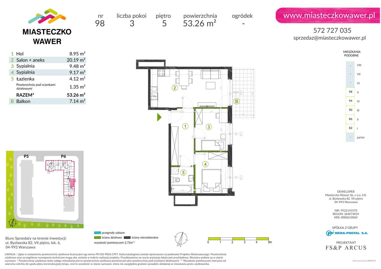 Mieszkanie w inwestycji: Miasteczko Wawer etap III