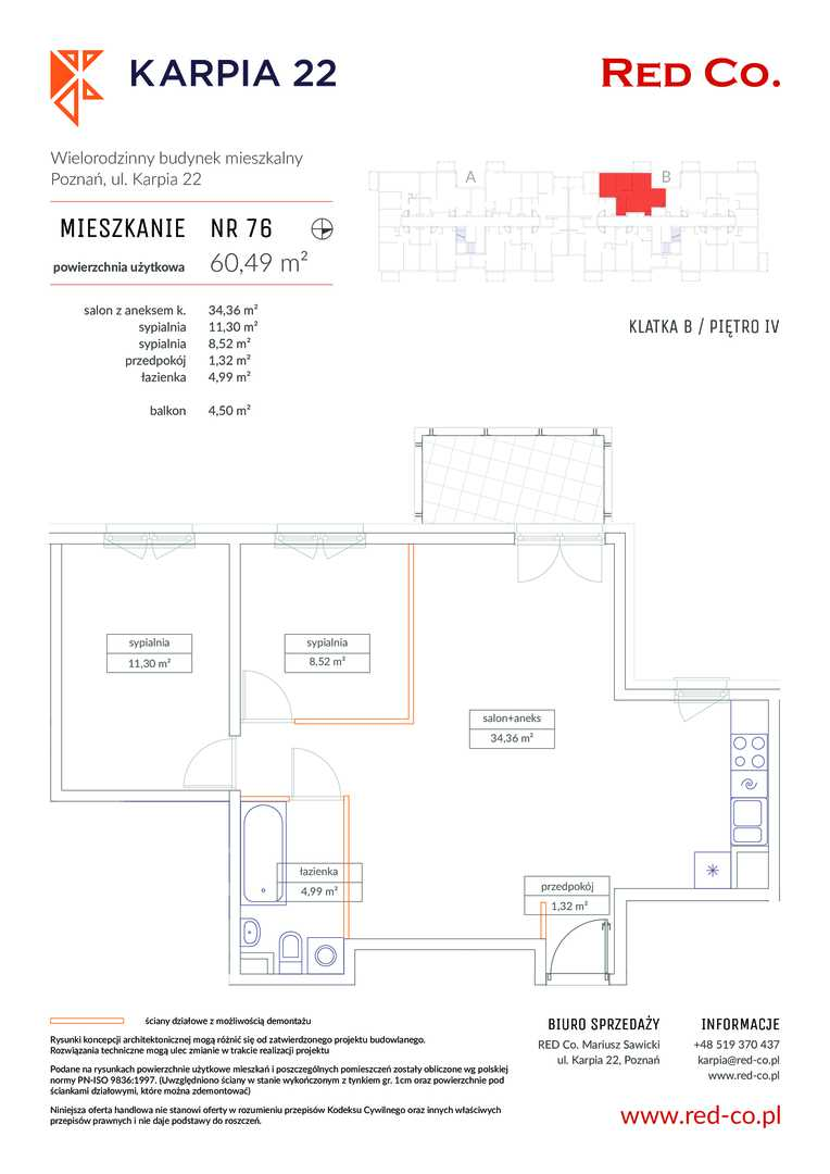 Mieszkanie w inwestycji: Karpia 22