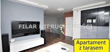 Apartament dwupoziomowy z tarasem m.postojowe