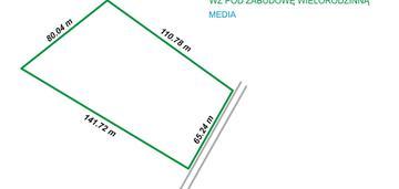 Górna - teren pod zabudowę wielorodzinną 8449 m2