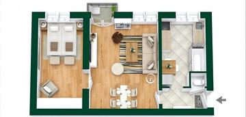 2 pokojowe mieszkanie w centrum z potencjałem