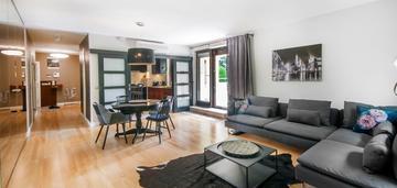 Luksusowy cichy apartament z tarasem, blisko błoni