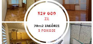 3 pokoje 70m2 zagórze