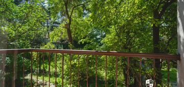 Prądnicka, 60m²: 2 pokoje z widokiem na ogród