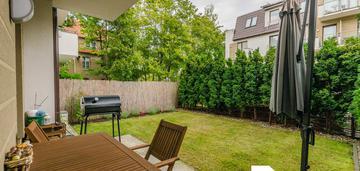 Piękne mieszkanie z ogrodem
