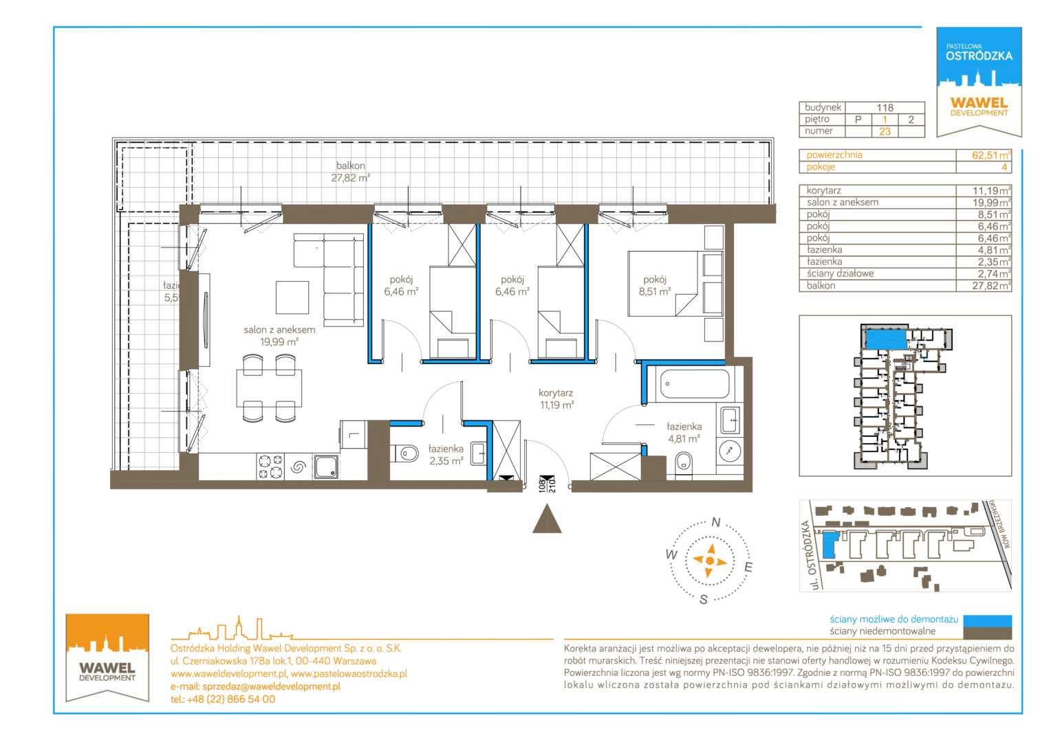 Mieszkanie w inwestycji: Pastelowa Ostródzka