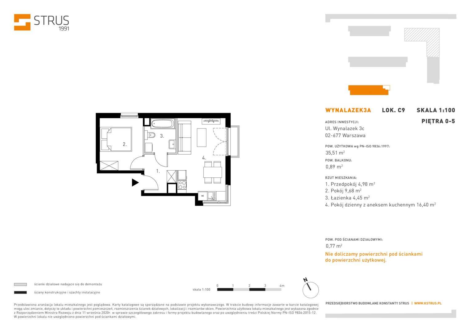 Mieszkanie w inwestycji: Wynalazek 3A