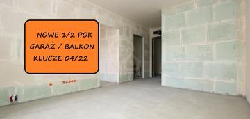 Nowe 1/2 pok/ garaż ! balkon! inwestycja!