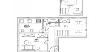 Mieszkanie z antresolą w kamienicy - wola