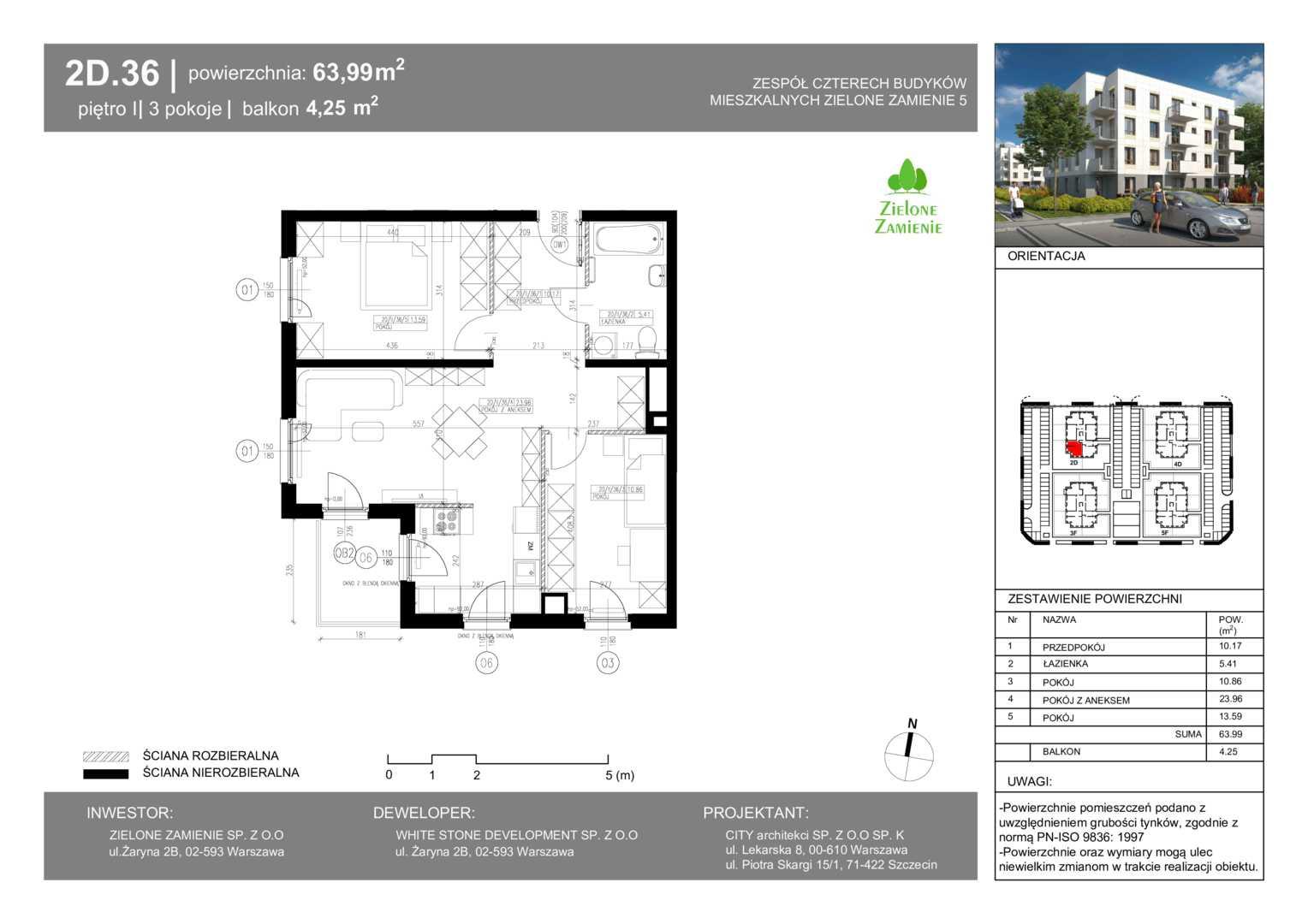 Mieszkanie w inwestycji: Zielone Zamienie V
