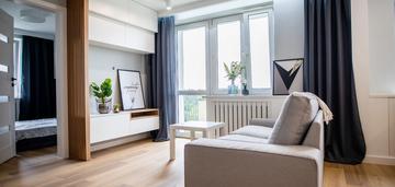 2 pokoje, osobna kuchnia, balkon, wysoki standard